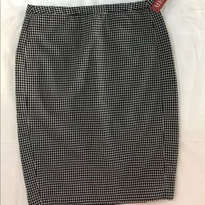 Pencil Skirt Black and White NWT